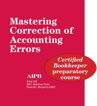 Mastering Correction of Accounting Errors | Bookstore | AIPB